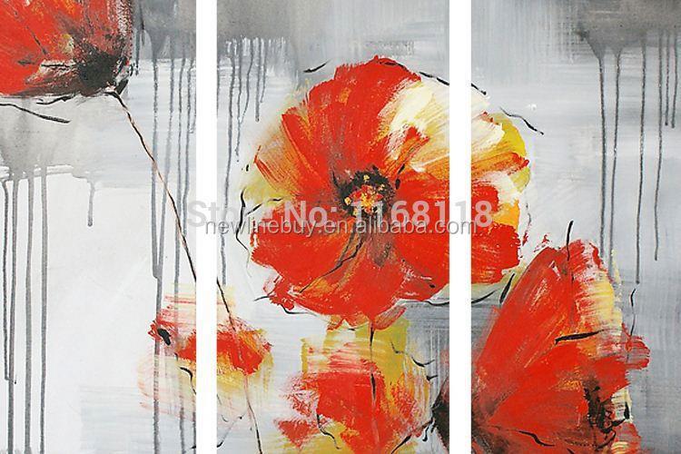 Stück blumenmalerei dekorative kunst gesetzt moderne wandkunst