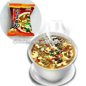 Healthy FD instant egg soup with vegetables/laver/tomato.etc.
