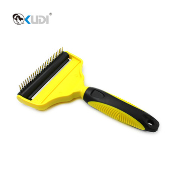 Double Funtion Pet Deshedding Tool With Comb And Deshedding