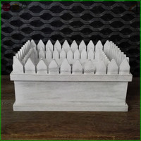 White Washed Wooden Flower Planter Boxes