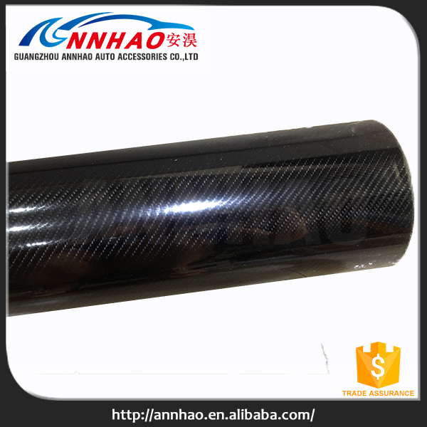 ANNHAO Bubble Free Glossy Black Car Wrapping Film Sticker 5D Carbon Fiber Vinyl Roll