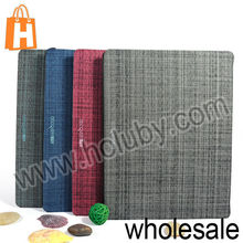 Ultra Slim Design Tri-fold Stand Flip Hard PC+Cloth Cover Case for iPad 2/3/4