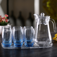 colored 7 drinking glass set with lid