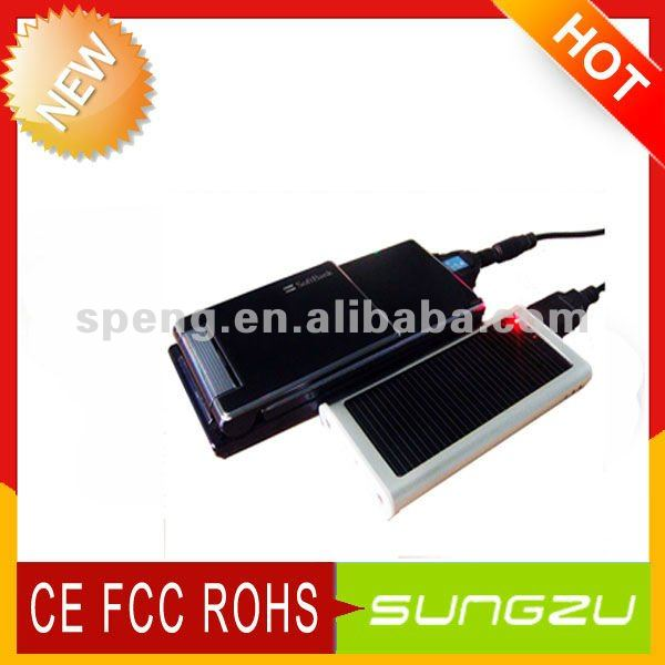 Sungzu Portable Battery Solar Charger MobilePhone /DV/MP3/MP4/PSP& For IPhone4G/4GS Solar Charger Battery