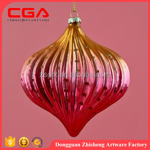 Hanging glass onion design,christmas decoration 2016