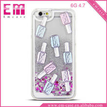 Nail Quicksand Cover PC Case For iPhone 6 Glitter PC Case For iPhone 6 Plus