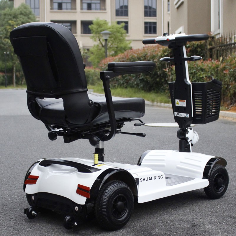 The elderly electric and solar scooter