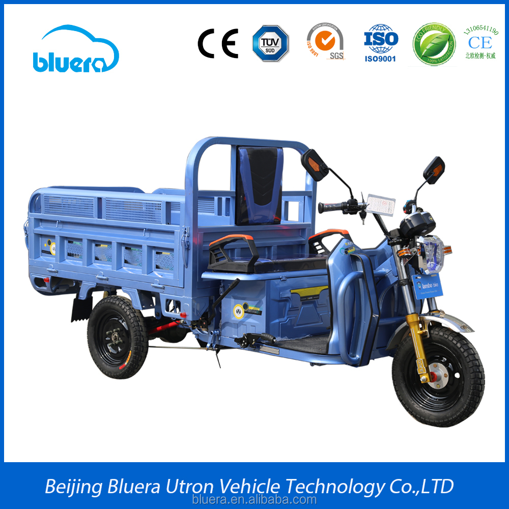 Bluerebike Carter T1 - 500~1000W Differential motor - 20AH Lead Acid Battery - 40Km/h Max Speed - Electric tricycle cargo
