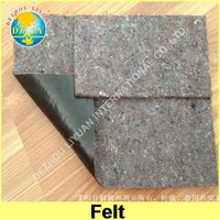 Recycled materials nonwoven needle punch mattress felt