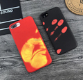 New Creative Thermal Induction Color Changing PC Phone Case for iPhone 7