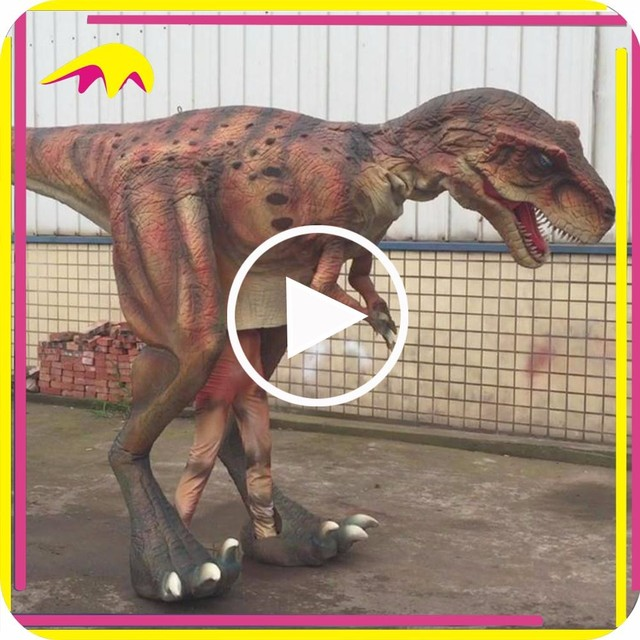 KANO5595 Amusement Park Funny Full Sized Artificial Dinosaur Costume Prop