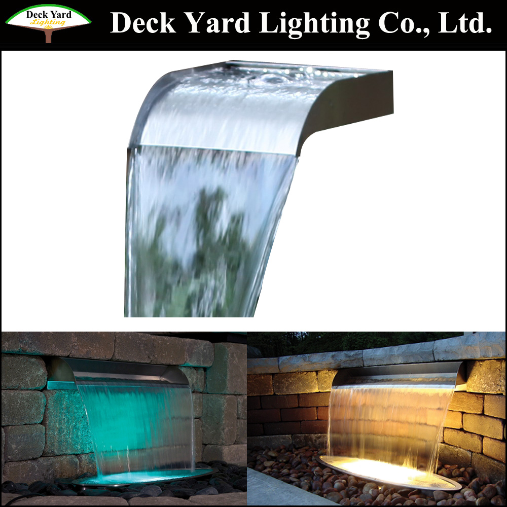 Water Feature with Led Light,Large Wall mounted Fountain Water Feature