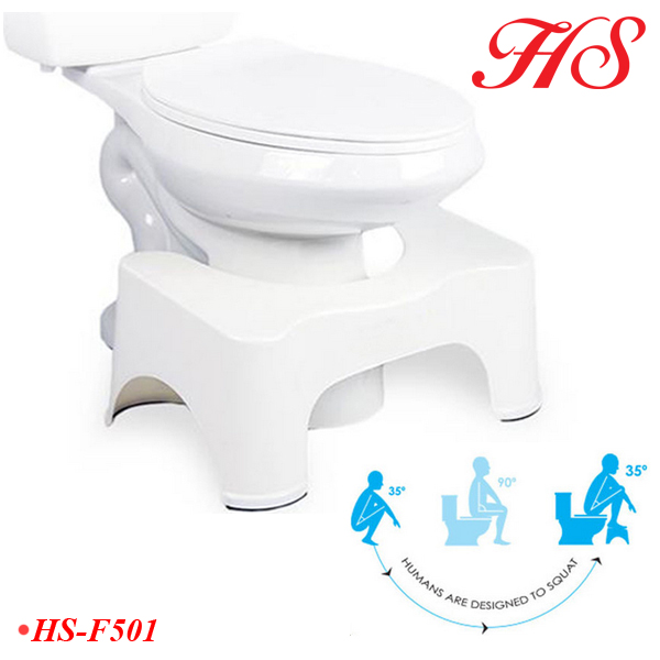 Healthy care family plastic bathroom toilet step stool potty stool for adult and baby kids with cheap price