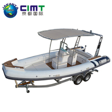 luxury military patrol boats yacht PVC or Hypalon fiberglass hull boats RIB-680 730 for sale