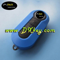 Top Best 3 buttons plastic key fob case for fiat flip key fiat 500 key cover in blue