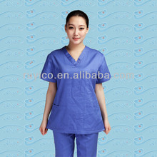 Medical disposable/breathable scrub coat suits a kit includes coat and pants