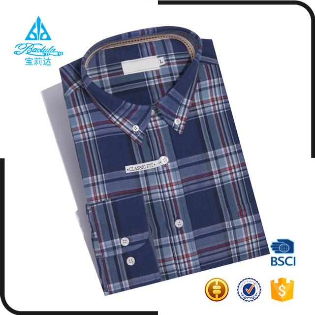 Urban plain retro oxford long sleeve button down shirt