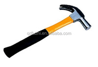 British type full polished Claw hammer with fiber glass handle