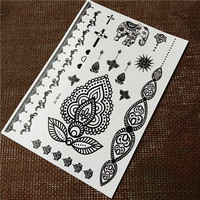 customisable temporary feature black henna tattoo black body tattoo