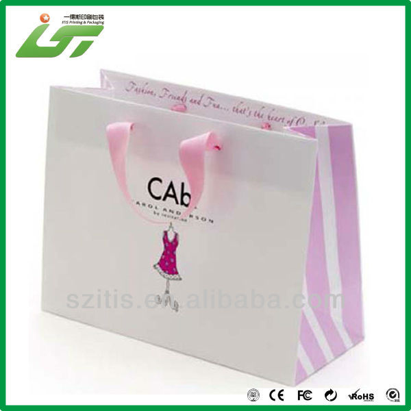 Luxury custom high quality clothes packing paper bag