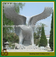granite stone hand carved flying eagle sculptures
