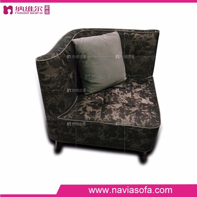 2016 Buy latest luxury fabric modern designs of single seater sofa for bedroom