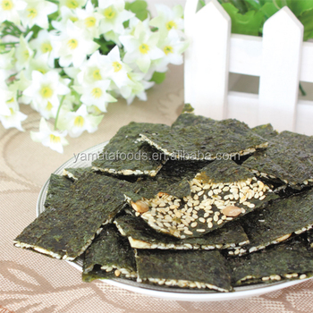 Roasted Seaweed crisps snack almond
