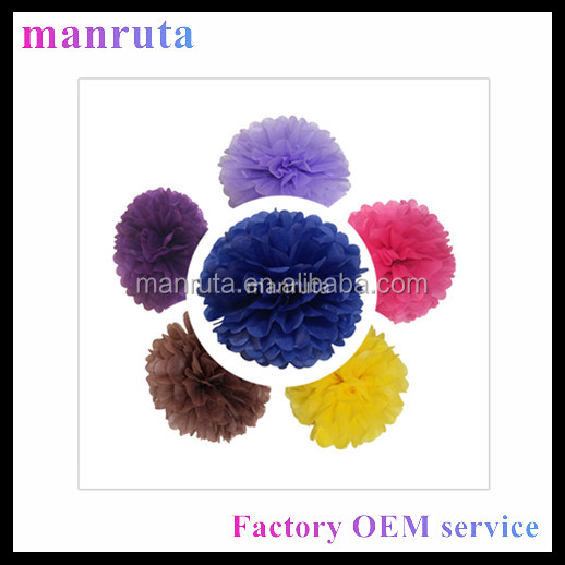 free shipping safe supplier christmas decoration paper flowers tissue paper pom poms online buy now