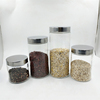 Transparent food sealed jar glass storage jar condiment bottle
