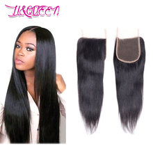 Brazilian Straight Hair Closure Brazilian Virgin Hair Closure 4x4 Human Hair Closure Middle /free/3 Part Lace Closure