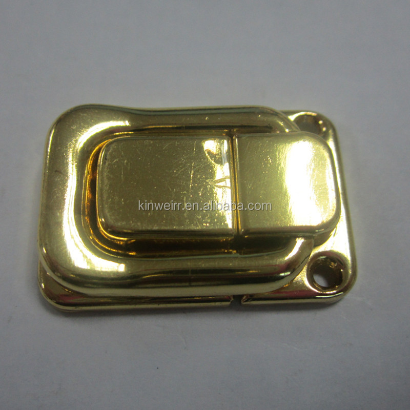37MM Gold color Small Mini Box Lock latch for wholesale from china