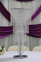 IDA cake stand in crystal/hanging crystals cake stand/latest wedding decoration(IDATC335)