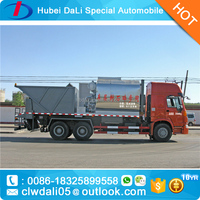synchronous chip sealer Distribute Bitumen chipping machine asphalt gravel chip sealer truck