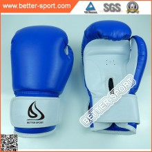 pu material red blue white color leather boxing gloves