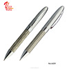 High quality Stainless Steel Metal Silver Pen Custom Logo Steel Wire Braid Metal Ball Pen