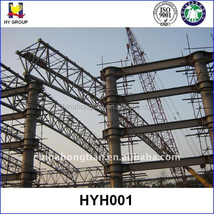 large span prefabricated metal steel roof truss design