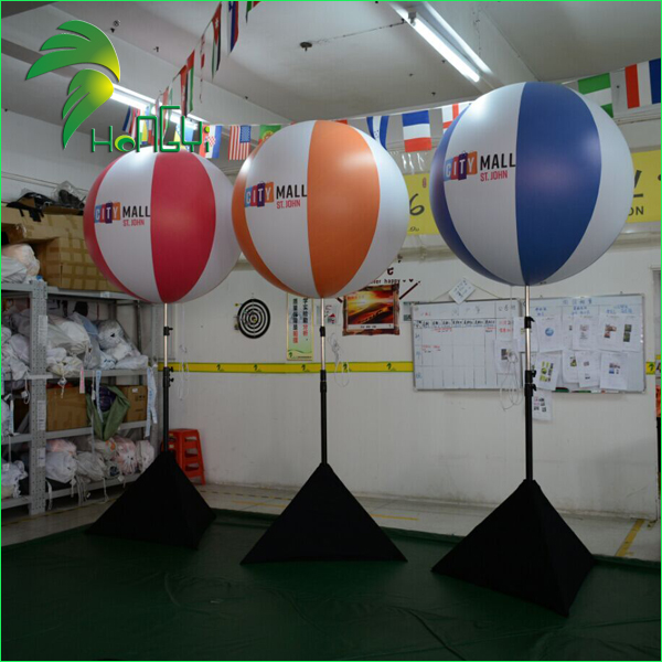 Beach Ball Type Inflatable Stand Tripod Balloons , Inflatable Stand led Light Balloon