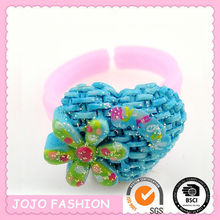blue heart shaped colorful rubber o-ring