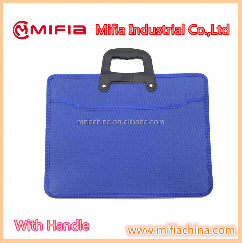 pp hard plastic cover document file folder bag with strong handle