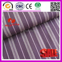 Cotton Purple and white stretch stripe fabric