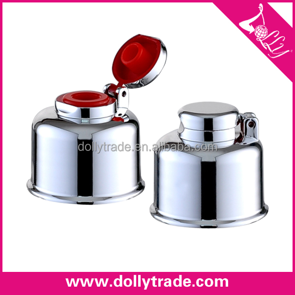 24/410 Silver UV Art Plastic Flip Top Cap