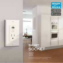 Forrinx Wifi USB wall socket Outlet Surge Protector with one USB Charging Port,&one AC Socket Plug