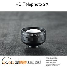 Professional 2X Telephoto zoom lens 60MM with black case for smartphone