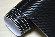 1.52*30m Black 3D Carbon Fiber Folie Vinyl High Quality Calendared PVC Car Decorative Wrapping