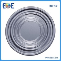 Hot Selling tin can eoe 307# 83mm easy opem bottom lid