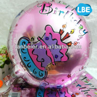 Colorful foil balloon sample happy birthday greetings