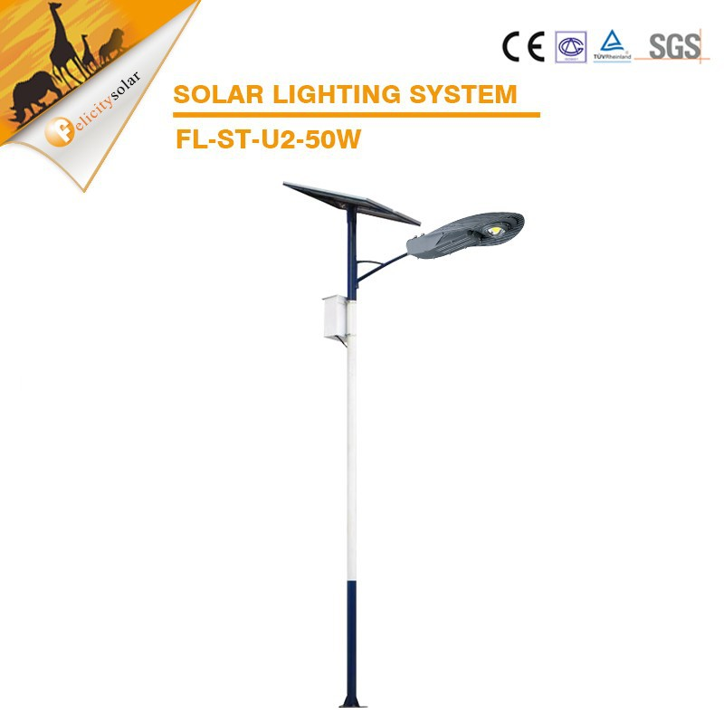 Waterproof road 50w LED solar light system with promotional price