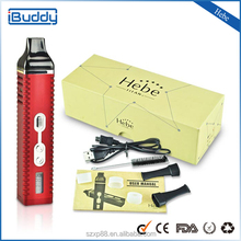 100% Authentic factory supply Newest 2015 dry herb vaporizer TITAN 2 Hebe with LCD Temperature Display