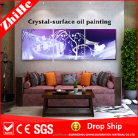 abstract painting with canvas fabric of beautiful scenery wall painting for bedroom