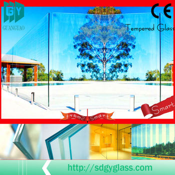 Guangyao high quality outdoor glass panels with AS/NZS 2208:1996, BS6206, EN12150 certificate
